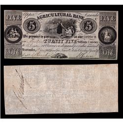 Agricultural Bank $5, 1836 - Low Serial Number