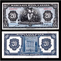 Barclays Bank of Canada $20, 1929