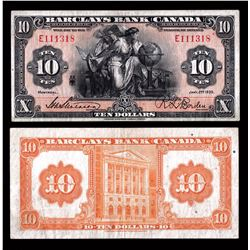 Barclays Bank of Canada $10, 1935