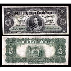 Bank of British North America $5, 1911