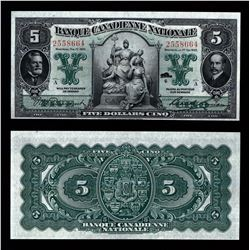Banque Canadienne Nationale $5, 1925