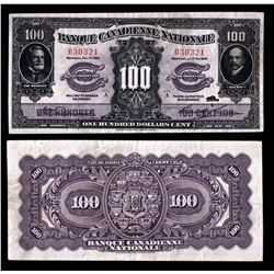 Banque Canadienne Nationale $100, 1925