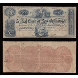 Central Bank of New Brunswick (5 Shillings), 1853