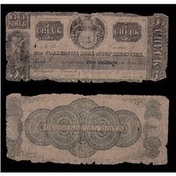Commercial Bank of New Brunswick 5 Shillings, 1837