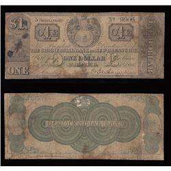 Commercial Bank of New Brunswick 5 Shillings, $1, 1860