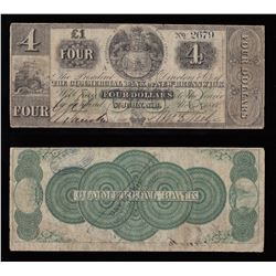 Commercial Bank of New Brunswick $4, 1860