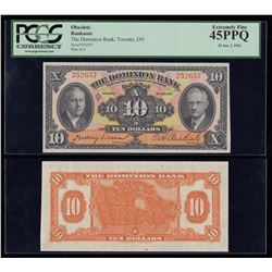 Dominion Bank $10, 1935