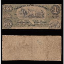 Farmers Bank of Rustico $1, 1872