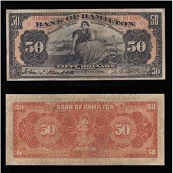 Bank of Hamilton $50, 1914