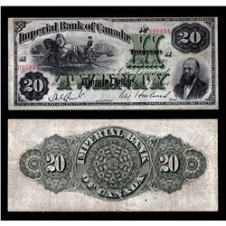 Imperial Bank of Canada $20, 1920