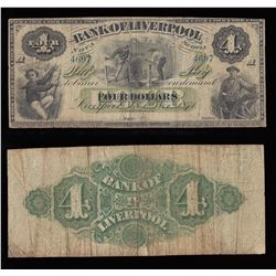 Bank of Liverpool $4, 1871