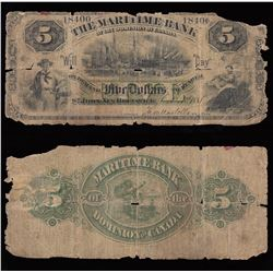 Maritime Bank $5, 1881