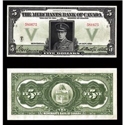 Merchants Bank of Canada $5, 1919