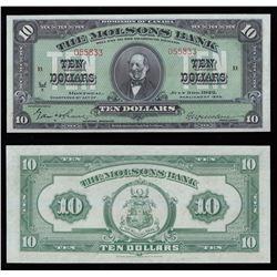 Molsons Bank $10, 1922