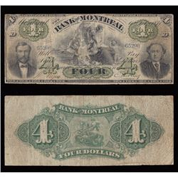 Bank of Montreal $4, 1871