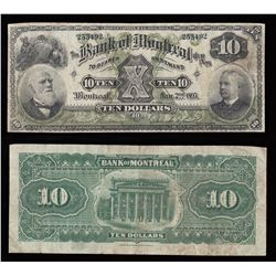 Bank of Montreal $10, 1895