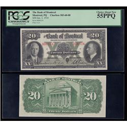 Bank of Montreal $20, 1935