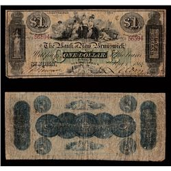 Bank of New Brunswick $1, 1868