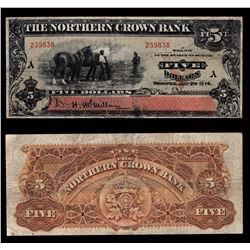 Northern Crown Bank $5, 1914