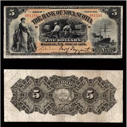 Bank of Nova Scotia $5, 1898