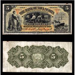 Bank of Nova Scotia $5, 1908