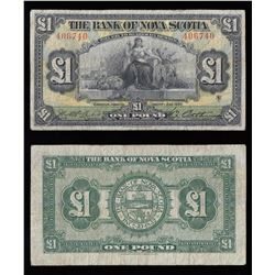 Bank of Nova Scotia $1, 1930 - Kingston, Jamaica
