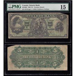 Ontario Bank $5, 1898