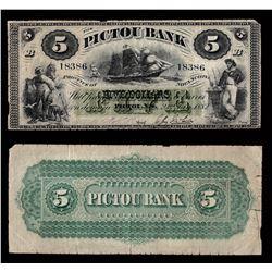 Pictou Bank $5, 1882