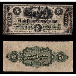 Bank of Prince Edward Island $5, 1877