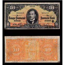La Banque Provinciale du Canada $10, 1936