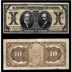 La Banque Provinciale du Canada $10, 1928