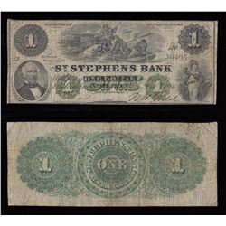 St. Stephens Bank $1, 1886