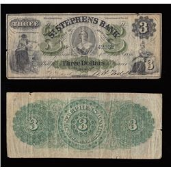 St. Stephens Bank $3, 1886