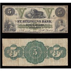 St. Stephens Bank $5, 1886
