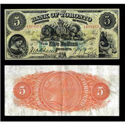 Bank of Toronto $5, 1923