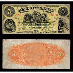 Bank of Toronto $5, 1929