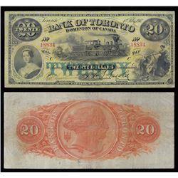 Bank of Toronto $20, 1917