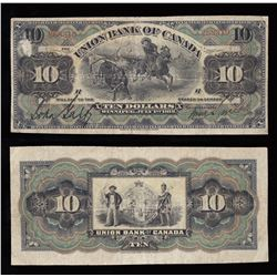 Union Bank of Canada $10, 1912