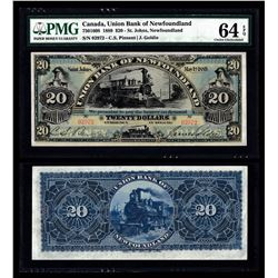 Union Bank of Newfoundland $20, 1889