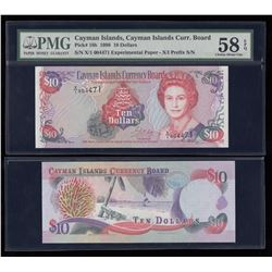 Cayman Islands Currency Board $10 1996 Experimental Paper Note