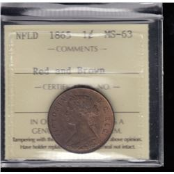 1865 Newfoundland One Cent
