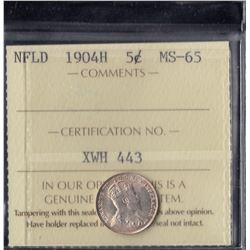1904H Newfoundland Five Cents
