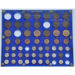 Lot of 50 Newfoundland Coins in Capital Plastic Presentation