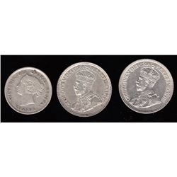 Canada - Lot of 3 Canadian Silver Coins