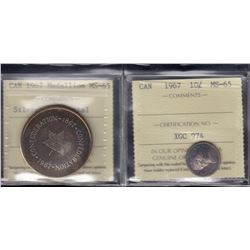 Canada - 1967 Ten Cents and Silver Medallion