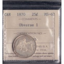 Canada - 1870 Twenty Five Cents