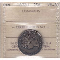 Canada - 1872H Twenty Five Cents