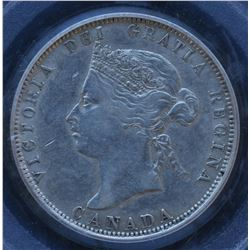 Canada - 1875H Twenty Five Cents