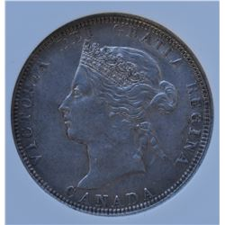 Canada - 1881H Twenty Five Cents