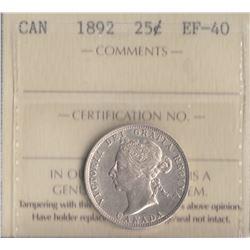 Canada - 1892 Twenty Five Cents